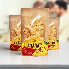 Разработка дизайна упаковки ананасовых снеков