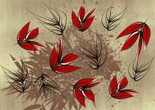 Background flower_red