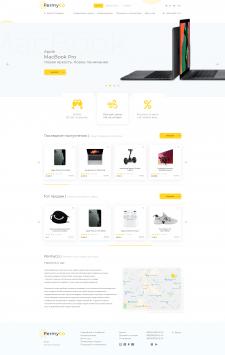 Редизайн интернет магазина: Главная