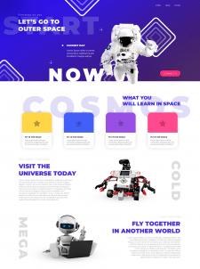 Дизайн сайта - Космическая тематика