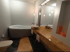 3д рендер визуализация ванной
