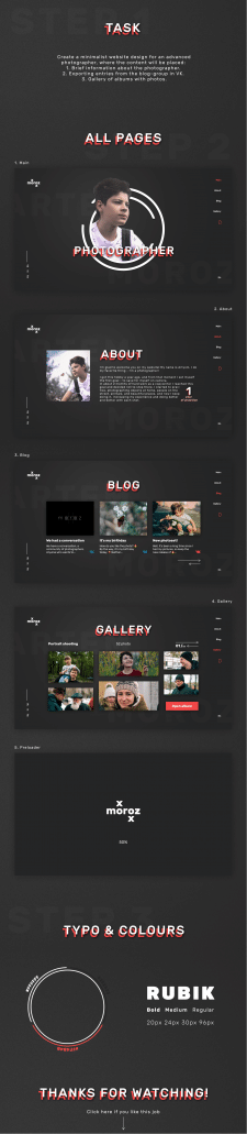 MxRxZ - photographer website