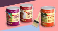 Этикетка для эмалей и грунтовки, ТМ «ColorJoy»