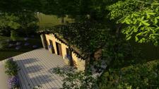 Ескізний проект туалету з озеленим дахом