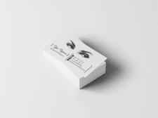 Визитка для визажиста-бровиста