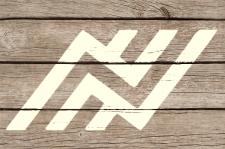 Logo on wood