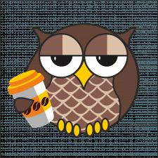 Сова с кофе