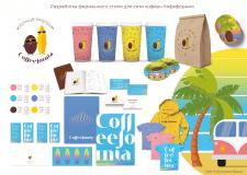 Фирменный стиль для сети кофеен Кофефорния