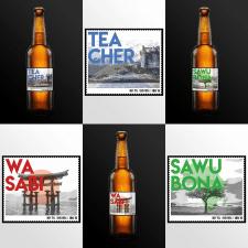 Дизайн линейки этикеток для пива TEACHER