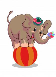 Цырковой слоненок