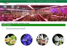Верстка сайта Музея орхидей