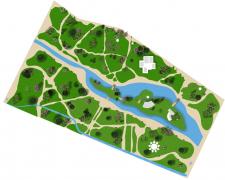 Иллюстрированный план дендро-луго-лесо парка
