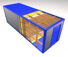 конструкция строительного вагончика
