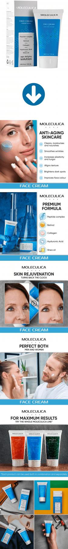 Листинг Amazon - Moleculica Day Face Cream