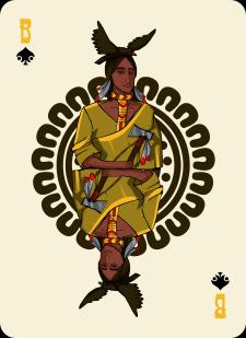 Spielkarten Indians- Farbig8