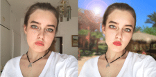 Улучшение лица и замена фона