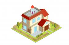 Будинок в ізометрії