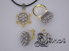 Гарнитур - золото с бриллиантами
