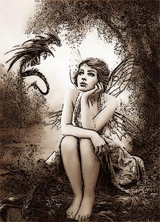 Ельфийка и дракон
