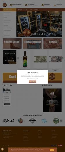 Разработка интернет-магазина пивной продукции