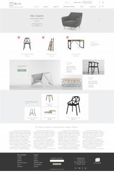 UX/UI дизайн интернет магазина + логотип