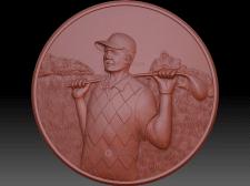 Изготовление 3д модели игрока в гольф для последую