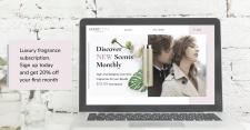 Баннер для сайта парфюмерии