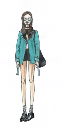 fashion illustration, акварель