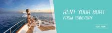 Баннер для сайта аренды яхт в Мальте