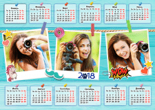 """Календарь """"Стикеры"""""""