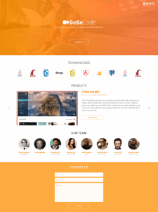 BeBeCode (HTML5/CSS3/Bootstrap 3)