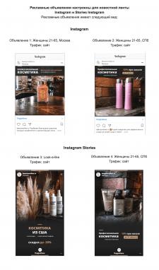 Таргетинг для магазина косметики в Instagram
