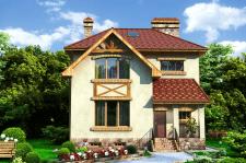 Візуалізація проекту будинку (рендер2)