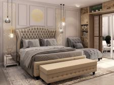 Визуализация спальни на Мальте