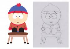 Персонаж в иллюстраторе