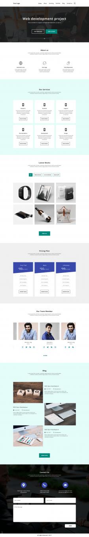 Адаптивный Landing Page web development project