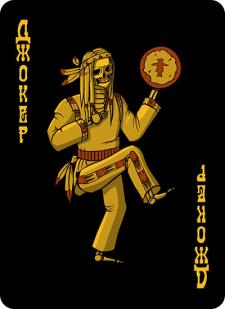 Spielkarten Indians- Skelette17