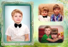 Детская фотокнига, мой дизайн и верстка