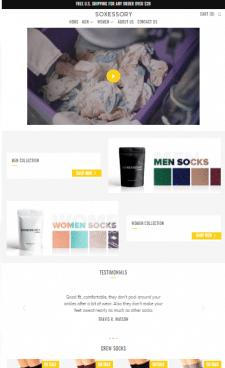 Shopify Интернет-магазин носков Soxessory