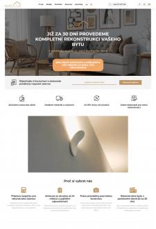 Сайт компании Rekoдгч по ремонту квартир в Чехии