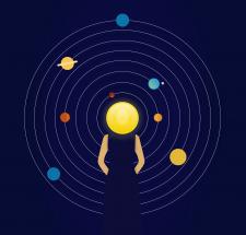 Женщина и планеты