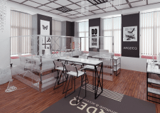 Проект шоу-рум офиса в Киеве