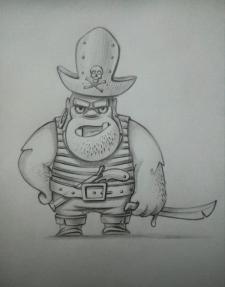Мавпа-пірат,персонаж