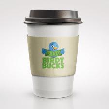 Фирменный стиль для сети кафе Birdy Bucks