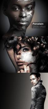 Porcelain skin photo effect