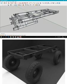 Модель в SketchUp