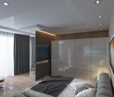 Идея дизайна спальни.