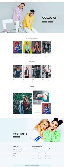 Вёрска главной страницы магазина одежды