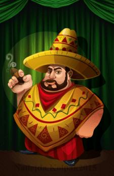 """Персонаж для настольной игры """"Зеленый Мексиканец"""""""