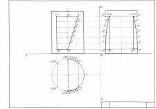 Линия пересечения цилиндра с отверстием
